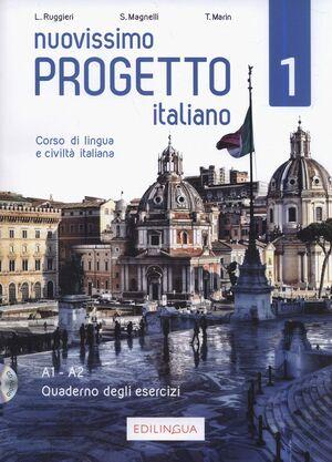 NUOVISSIMO PROGETTO ITALIANO 1 QUADERNO DEGLI ESERCIZI +CD